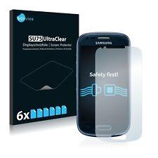6x Displayschutzfolie Samsung Galaxy S3 Mini I8190 Schutzfolie Klar Folie