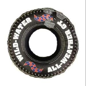 PRINTED TIRE TUBE Tough Mudder Swim Ring Vinyl Lazy River Summer Fun Lake 9021