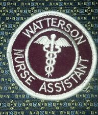 WATTERSON NURSE ASSISTANT Iron or Sew-On Patch
