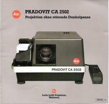 Prospetto Manual Dia projektor LEITZ PRADOVIT ca 2502