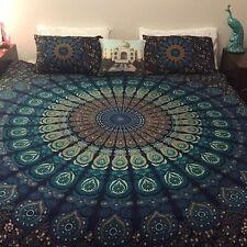 Hippie Queen Bedding Bedspread Coverlet Indian Wall Hanging Tapestry Beach Throw