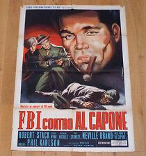 FBI CONTRO AL CAPONE manifesto poster The Scarface Mob Poliziesco Robert Stack