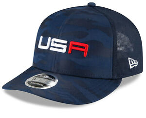 NEW 2020 New Era 9Fifty USA Ryder Cup Practice Rd Navy Blue Camo Snapback Youth