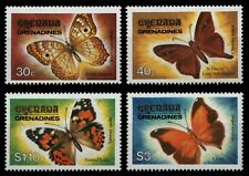 Granada-granadinas 1982-mi-nº 490-493 ** - mnh-mariposas/Butterflies