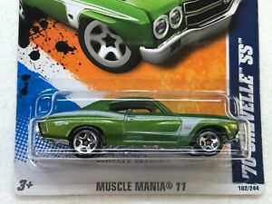 HOT WHEELS 2011 MUSCLE MANIA 70 CHEVELLE SS #2/10 COLLECTOR NO. 102/244