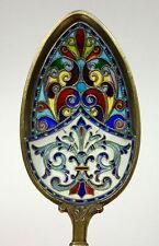 Löffel mit Fensteremaille Silber Plique-à-jour