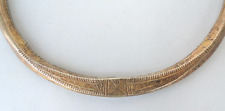RARE! ETHNIC TRIBAL OLD SILVER & GOLD COVERED NECKLACE NECKRING GUJRAT INDIA