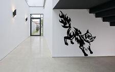 Wall Room Decor Art Vinyl Sticker Mural Decal Tribal Tattoo Fox Beautiful DA061