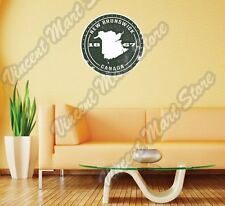 New Brunswick Canada Country Map Grunge Wall Sticker Room Interior Decor 22""