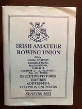 Irish Amateur Rowing Union Members book with regatta fixtures - 1991