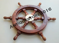 ANTIQUE NAUTICAL WOODEN SHIP WHEEL MARITIME VINTAGE PIRATE CAPTAIN DECORATIVE