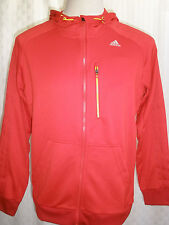ADIDAS CLIMALITE RED TRACK JACKET HOOD  MEN'S SIZE L HOT RARE
