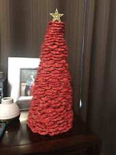 Christmas Tree Home Decor - Crocheted With Isaac Mizrahi Craft Yarn