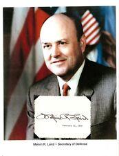 Melvin Laird Autograph Secretary Defense Congressman White House Domestic Affair