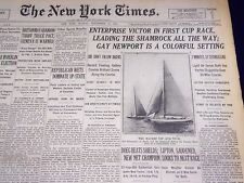1930 SEPTEMBER 14 NEW YORK TIMES - ENTERPRISE VICTOR IN FIRST CUP RACE - NT 1652