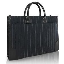 Unisex Stripes Business Case Briefcase Handbag Shoulder Messenger Bag Tote Bag