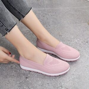 Women Slip On Flat Loafers Walking Casual Shoes Sneakers Breath Shoe Comfort New