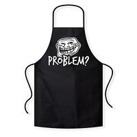 Problem ? Trollface Coolface Meme Fun BBQ Kochschürze Grillschürze Latzschürze