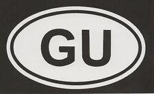 Guam Oval Euro Sticker Auto Decal European Club Vinyl Weatherproof
