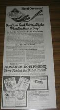 1923 Vintage Ad Advance Equipment Automobile Accessories for Ford Cars
