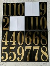 Everbilt 3 in. Self-Adhesive Vinyl Number Set gold/black free shipping