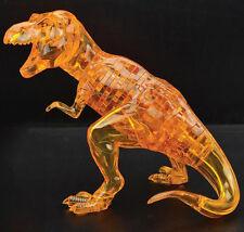 3D Crystal Puzzle Jigsaw Tyrannosaurus Rex T-Rex Dino Dinosaur Orange 50Pcs