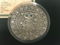 Virgo Zodiac of the Sign  20 Roubles Silver Coin With Crystals Belarus 2009