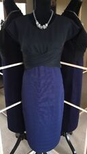 MINT VELVET Ladies Simply Stunning Blue & Black Special Occasion Dress Size 12