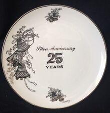 25th Wedding Anniversary Plate Viletta's Arts