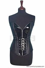 PC-54 Leather And PVC Overbust Steel Boned With Buckles Corset