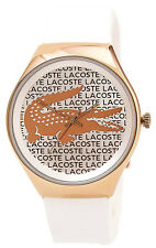 Lacoste 2000809 Valencia Silver & Rose Gold Dial Silicone Strap Women's Watch