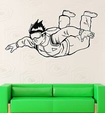Wall Decal Skydiving Parachutist Extreme Sports Vinyl Stickers Art Mural ig2570