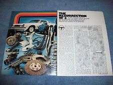 "1977 Chevy Camaro Z/28 Vintage Road Test Info Article ""Resurrection of Z"""