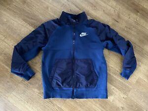 Nike Mens Boys Full Zip Blue Hoodie Jumper Size M Medium