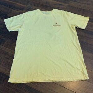 BROWNING graphic  t-shirt, yellow, LARGE
