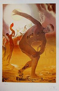"Dali ""The Cosmic Athlete"" Signed Original Lithograph, Pristine superb condition"
