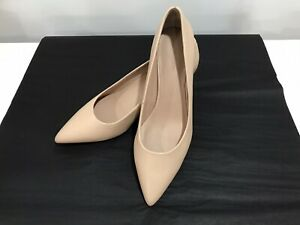 WITCHERY Brand New Without Box Nude Leather Kitten Heel Shoes Size 39/8.5