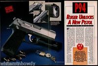 1994 RUGER P94 A New Pistol Gun Test 5-page Evaluation Article
