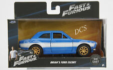 JADA FAST & FURIOUS BRIAN'S 1974 FORD ESCORT RS2000 MK1 BLUE 1:32 CAR 97188 NEW