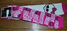 2 Pack Monster High Knee High Socks Size 9-11 Officially Licensed Skull Pink Bow