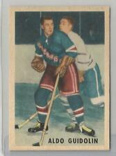 1953-54 Parkhurst Hockey Aldo Guidolin Card # 66 Ex-Mt Condition Set Break