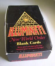 ILLUMINATI NWO ~ BOX of Blank Cards ~ 28 Sealed Packs ~ Steve Jackson Games