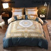 Luxury Europe Bohemia Cotton Palace Bedding Set Duvet Cover Bed Linen Sheet 4pcs