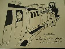 Carrizey Le petit train vous le déposer chez lui c'est un vieux client humour
