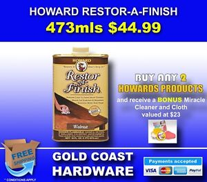 Howards Restor-A-Finish 473ML/$44.99 or 236ml/$34.99 - ALL COLOURS AVAILABLE