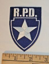 Resident Evil R.P.D. Silver Star Blue Logo Shield Embroidered Patch - US seller