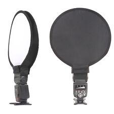"Mini 16""/40CM Round Disc Softbox Diffuser For Canon Nikon Flash Speedlight & Bag"