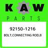 92150-1216 Kawasaki Bolt,connecting rod,8 921501216, New Genuine OEM Part