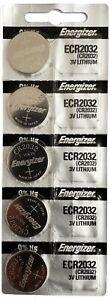 5 NEW ENERGIZER CR2032 2032 3v Lithium Batteries ECR2032 Battery. Made in JAPAN