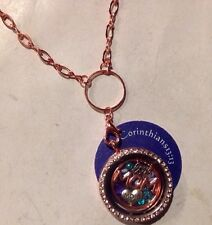 """Crystal Rose Gold Plated Memory Locket W/""""Mom"""" Plate ~*you Choose Charms~"""